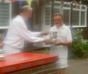 Challenge & Gilbey: John Low receives the Council Cup from Nigel Graves