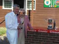 August Tournament: Barry Gould, winner of the Scott Cup, presented by Hyacinth Coombs