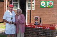 August Tournament: Brian Kitching, Daldy Cup winner with Hyacinth Coombs