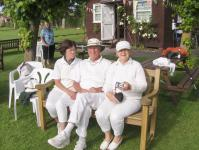SCCC Golf Croquet Open Competition: Overseas Guests Antje, Peter and Nina from Hamburg Croquet Club
