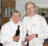 Spring Bank Holiday Advanced Play Tournament: Runners-up Daphne Gaitley and Lawrence Whittaker