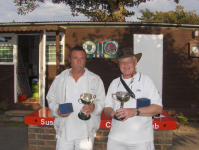 August Tournament: 2-legged winners Nigel Wilson and John Smallbone