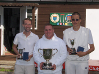 August Tournament: Class Singles winners: Jon Palin, Craig Oakley and Luc Berthouze