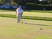 August Tournament: Gerard Healy overruns the hoop in tricky conditions on lawn 5