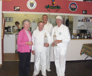 Alternate Stroke Doubles: Winners Alan Rew and Alan Theobald with Elizabeth and Paul Castell