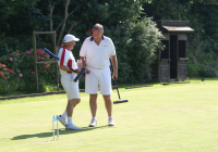 CA GC Open Championship: Mulliner and Bamford at the end of the final (photo: Ray Hall)