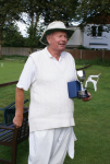 Autumn Tournament: David Mumford with the Scott Cup (photo: Ray Hall)