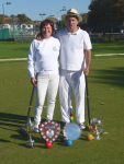 Deborah and David Marcus and their haul of trophies (photo: Ray Hall